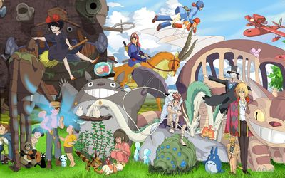 Studio Ghibli characters wallpaper