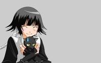 Sui-Feng holding a black cat - Bleach wallpaper 1920x1200 jpg