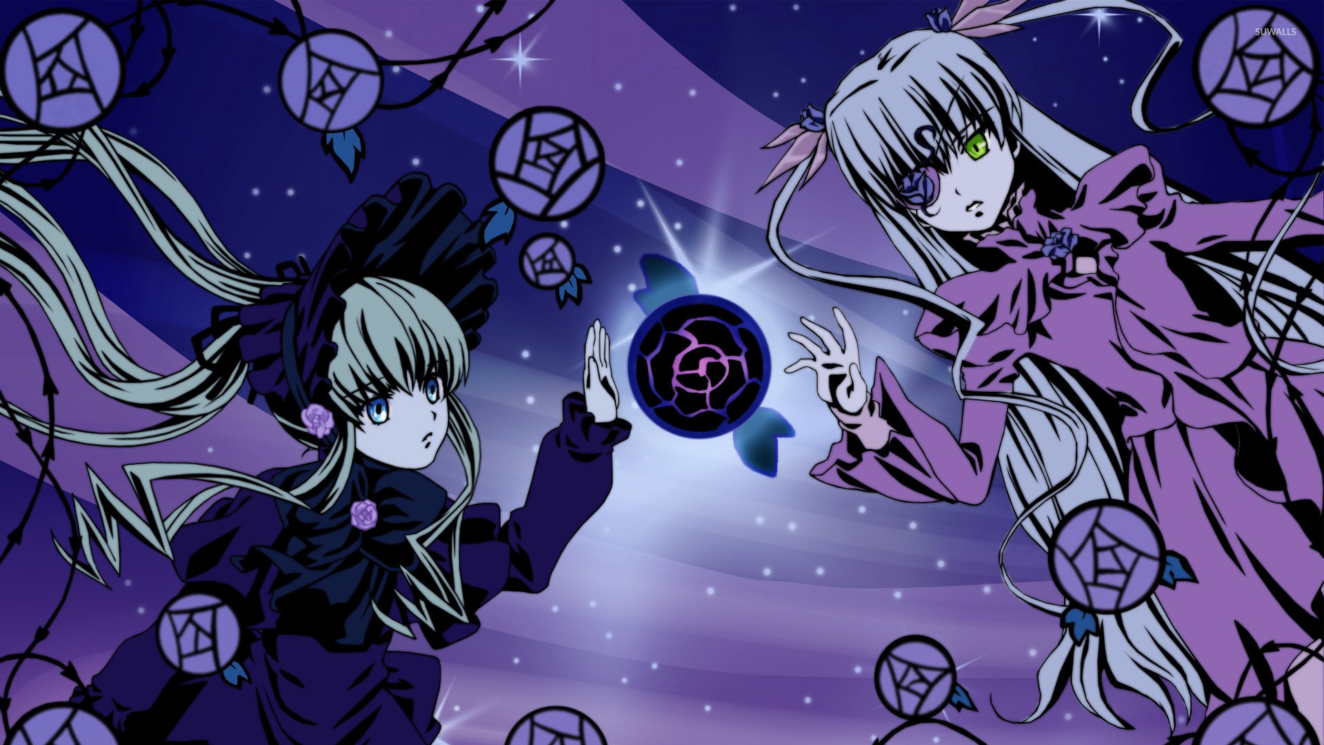 Suigintou And Shinku Rozen Maiden Wallpaper Anime
