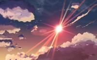 Sunset clouds in 5 Centimeters Per Second wallpaper 1920x1080 jpg
