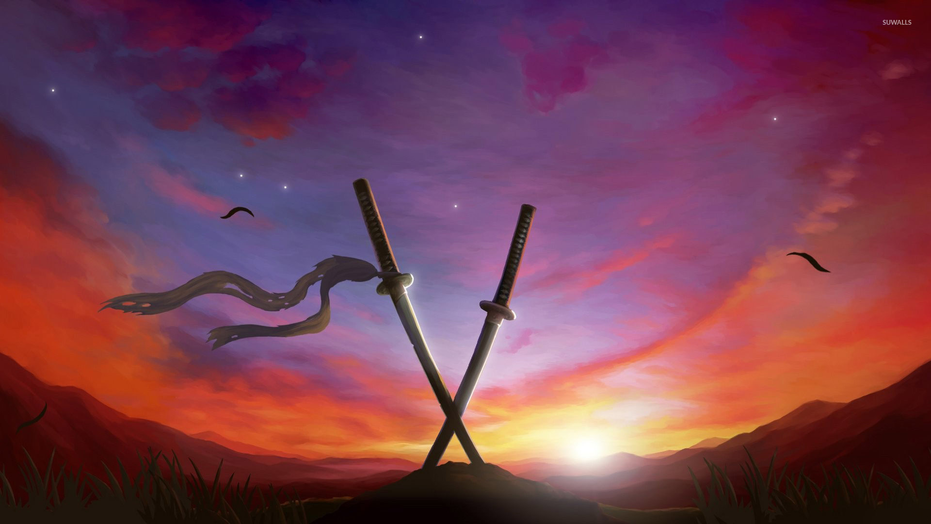 Sunset In Muramasa The Demon Blade Wallpaper Anime Wallpapers