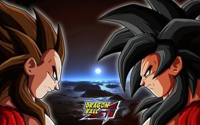 Super Saiyans 4 Vegeta  and Goku wallpaper