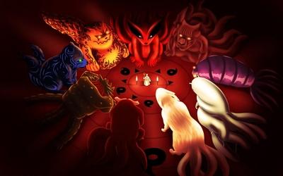 Toad, Kikaichu, Ninken and Snail in Naruto wallpaper
