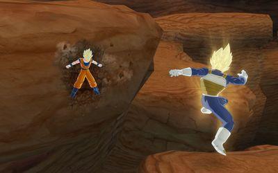 Vegeta vs Goku in Dragon Ball Z wallpaper