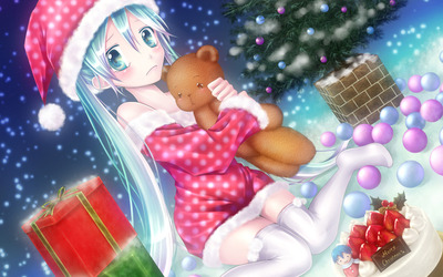 Vocaloid Christmas with Hatsune Miku wallpaper
