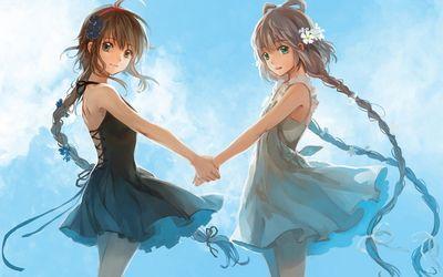 Vocaloid girls dancing wallpaper