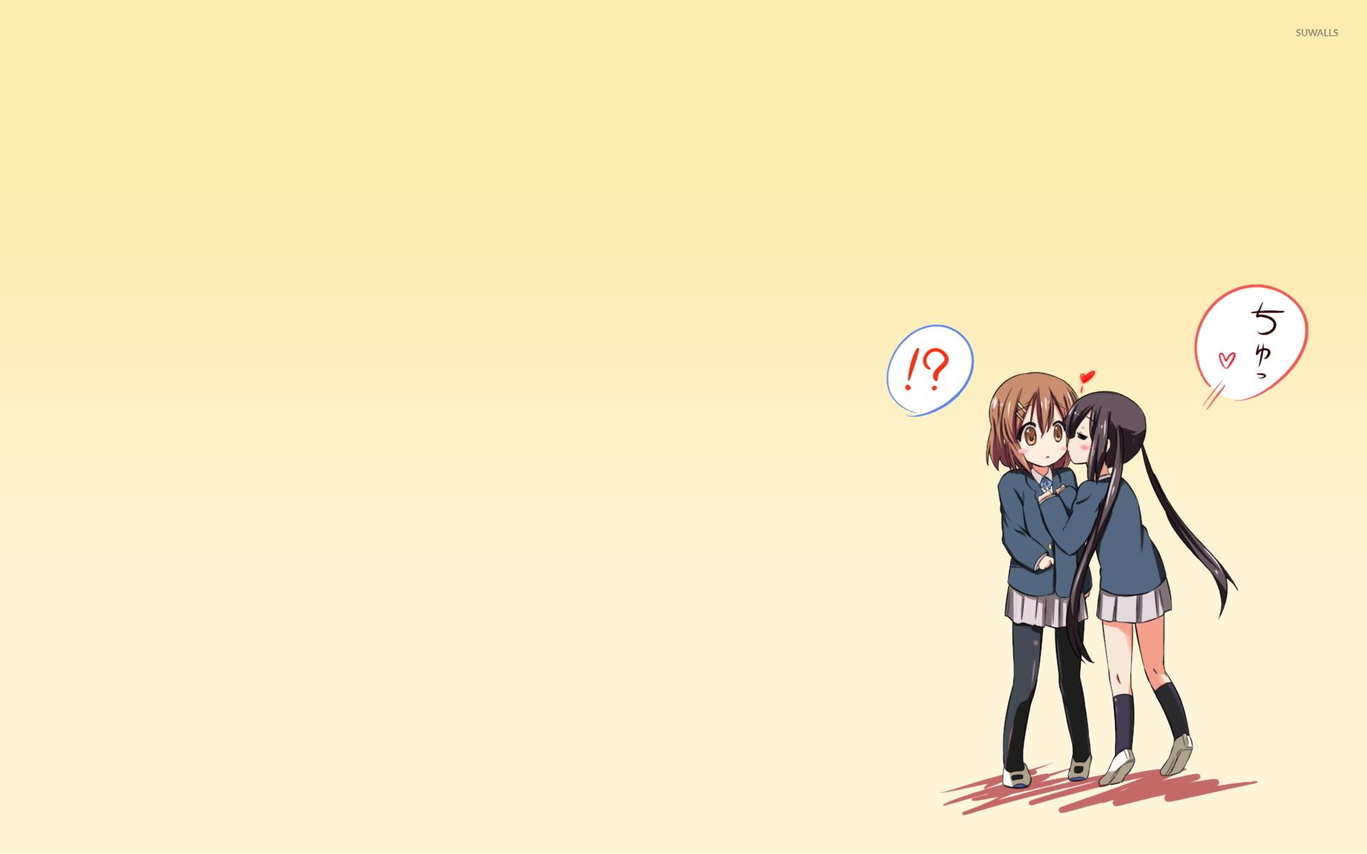 Yui Hirasawa And Azusa Nakano K On Wallpaper Anime Wallpapers