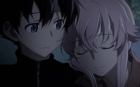 Yukiteru and Yuno - Future Diary [3] wallpaper 1920x1080 jpg