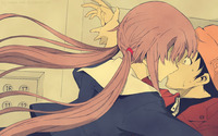Yukiteru and Yuno - Future Diary [2] wallpaper 2560x1600 jpg