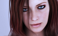 Amazing redhead with freckles wallpaper 1920x1080 jpg