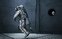 Astronaut under water wallpaper 2560x1600 jpg