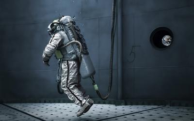 Astronaut under water wallpaper