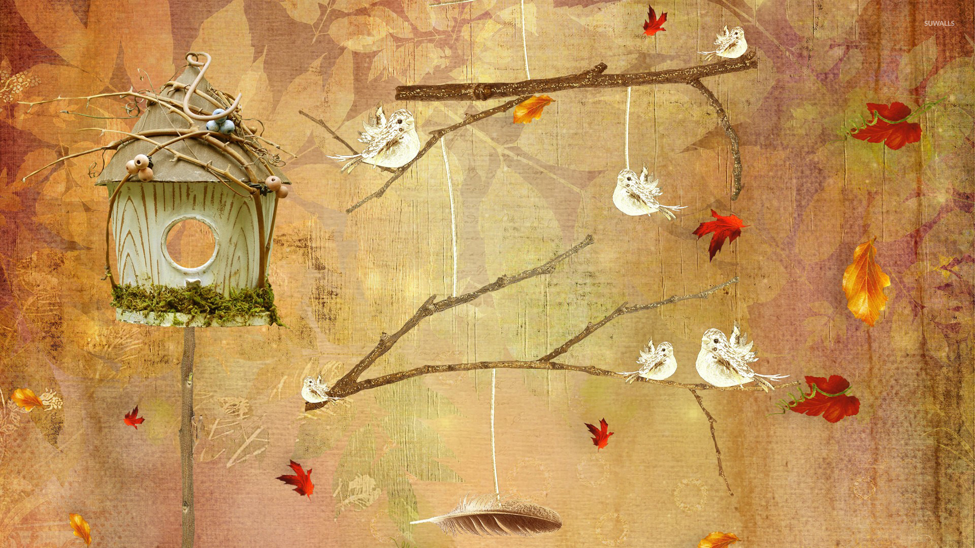 Bird house wallpaper - Artistic wallpapers - #25985