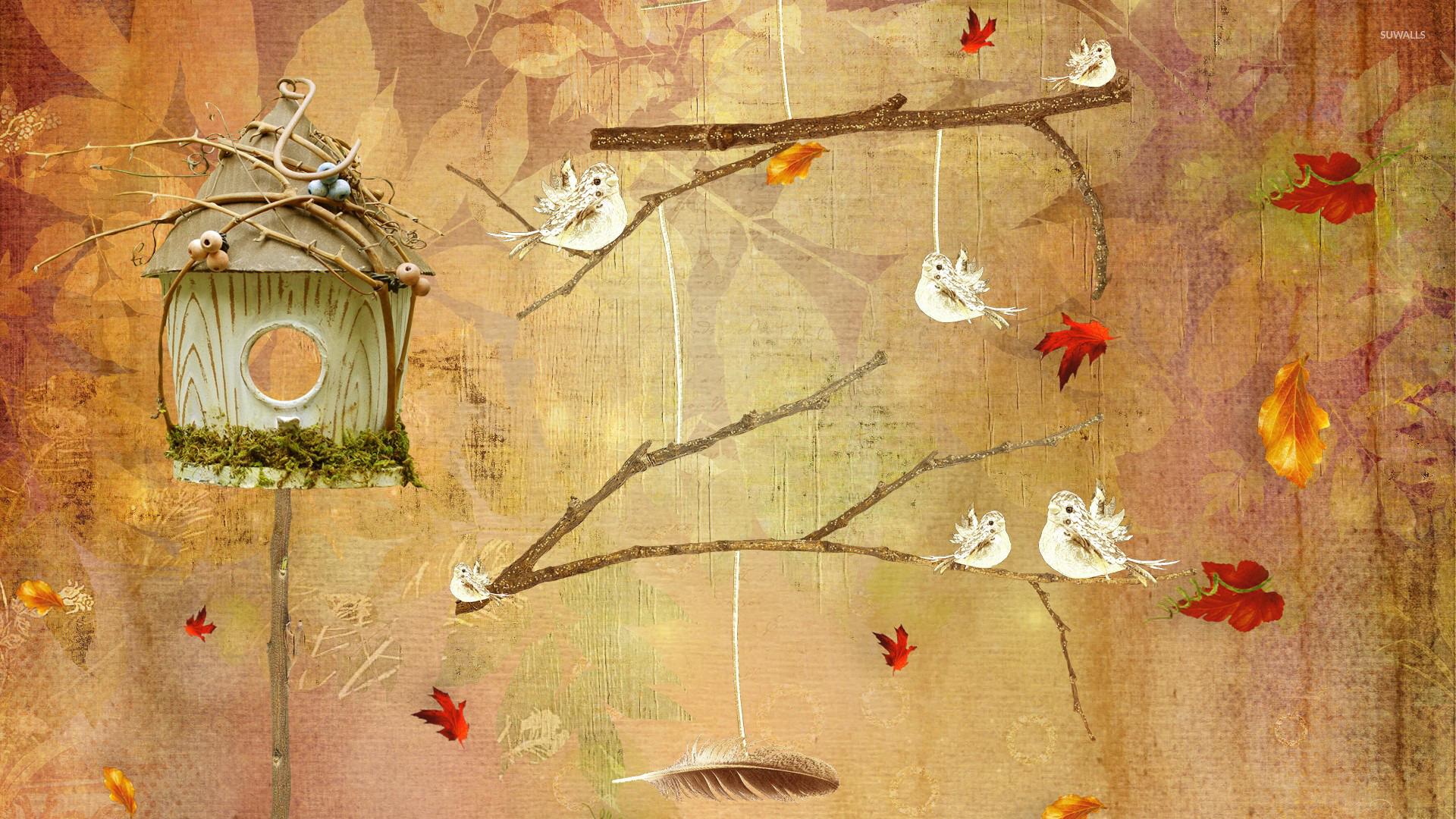 Bird house wallpaper - Artistic wallpapers - #25985