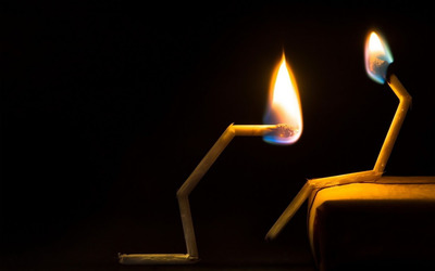 Burning matchsticks wallpaper