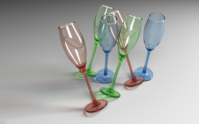 Champagne glasses wallpaper