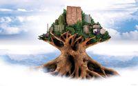 City on the tree top wallpaper 1920x1200 jpg