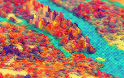 Colorful LEGO Landscape wallpaper