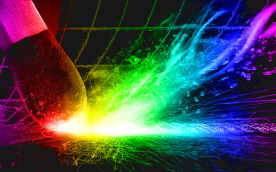 Colorful match sparks wallpaper