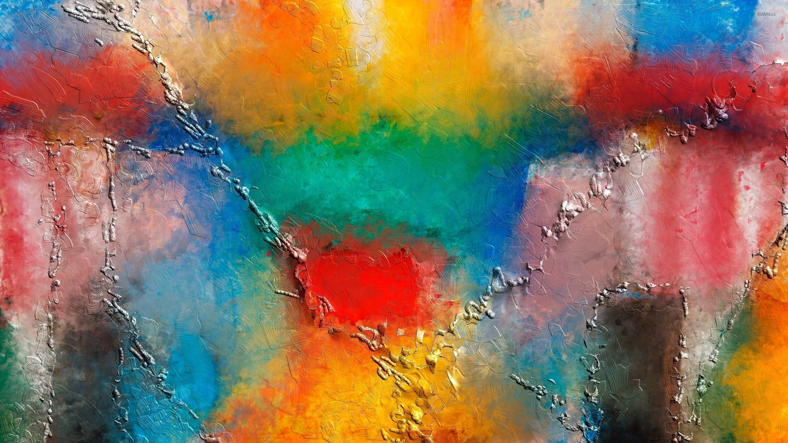 Colorful paint wallpaper Artistic wallpapers