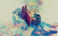 Cute creatures reading a book wallpaper 1920x1080 jpg