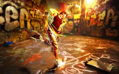 Dancer on the street wallpaper
