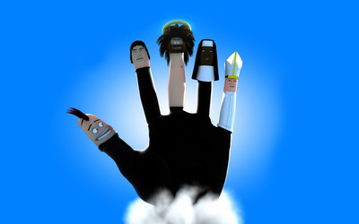 Finger puppets wallpaper