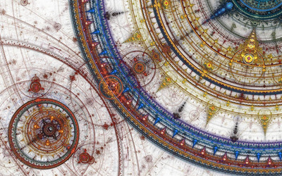 Fractal Apolonnian circles wallpaper