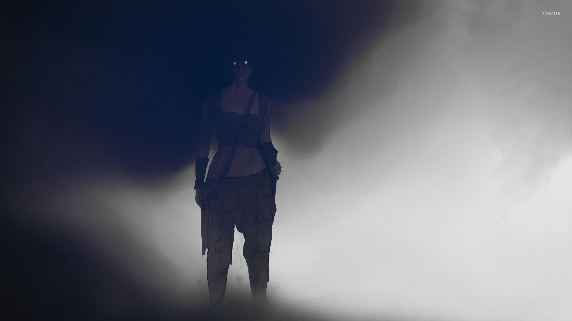 Girl In The Darkness Wallpaper