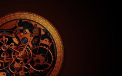 Golden watch mechanism wallpaper