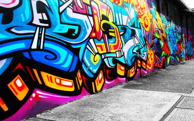 Graffiti wallpaper