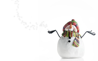 Happy snowman wallpaper