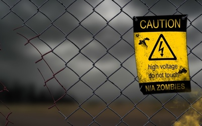 High voltage do not touch wallpaper