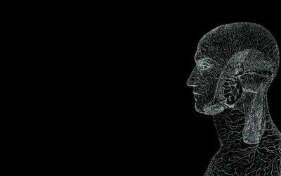 Human silhouette wallpaper