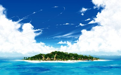 Island resorts wallpaper