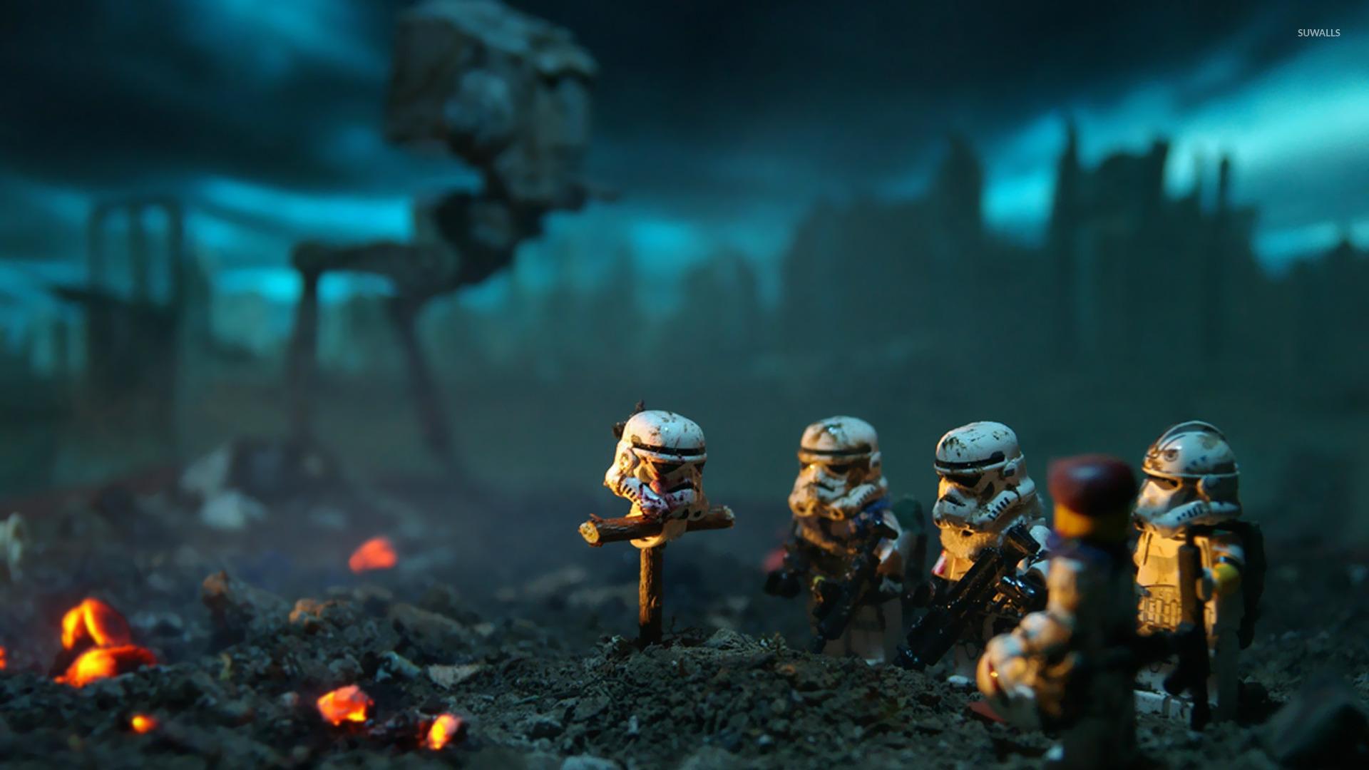 LEGO Stormtrooper burial wallpaper Artistic wallpapers 16113