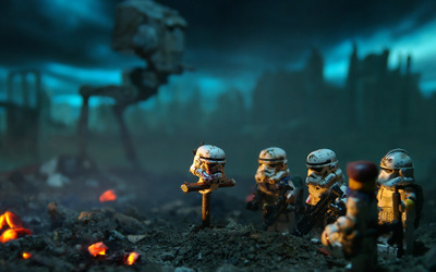 LEGO Stormtrooper burial wallpaper