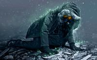 Man with a gas mask crawling wallpaper 1920x1200 jpg