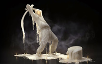 Melting wax sculpture wallpaper 2560x1440 jpg