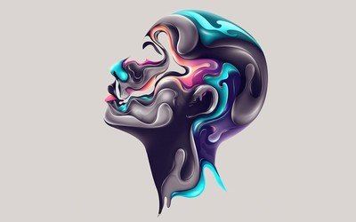 Painting of a woman's head wallpaper