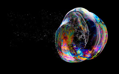 Popping bubble wallpaper