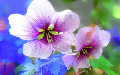 Purple hibiscuses wallpaper