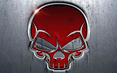 Red skull wallpaper