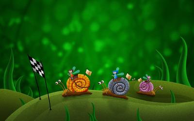 Snail race wallpaper