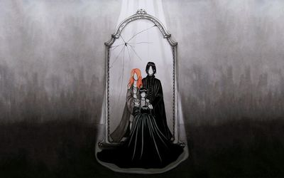 Snape and the Mirror of Erised - Harry Potter wallpaper