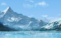 Snowy mountains [6] wallpaper 1920x1200 jpg