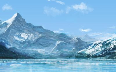 Snowy mountains [6] wallpaper
