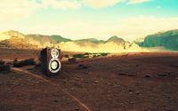 Speaker box in the desert wallpaper 1920x1200 jpg