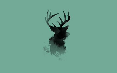 Stag head silhouette wallpaper