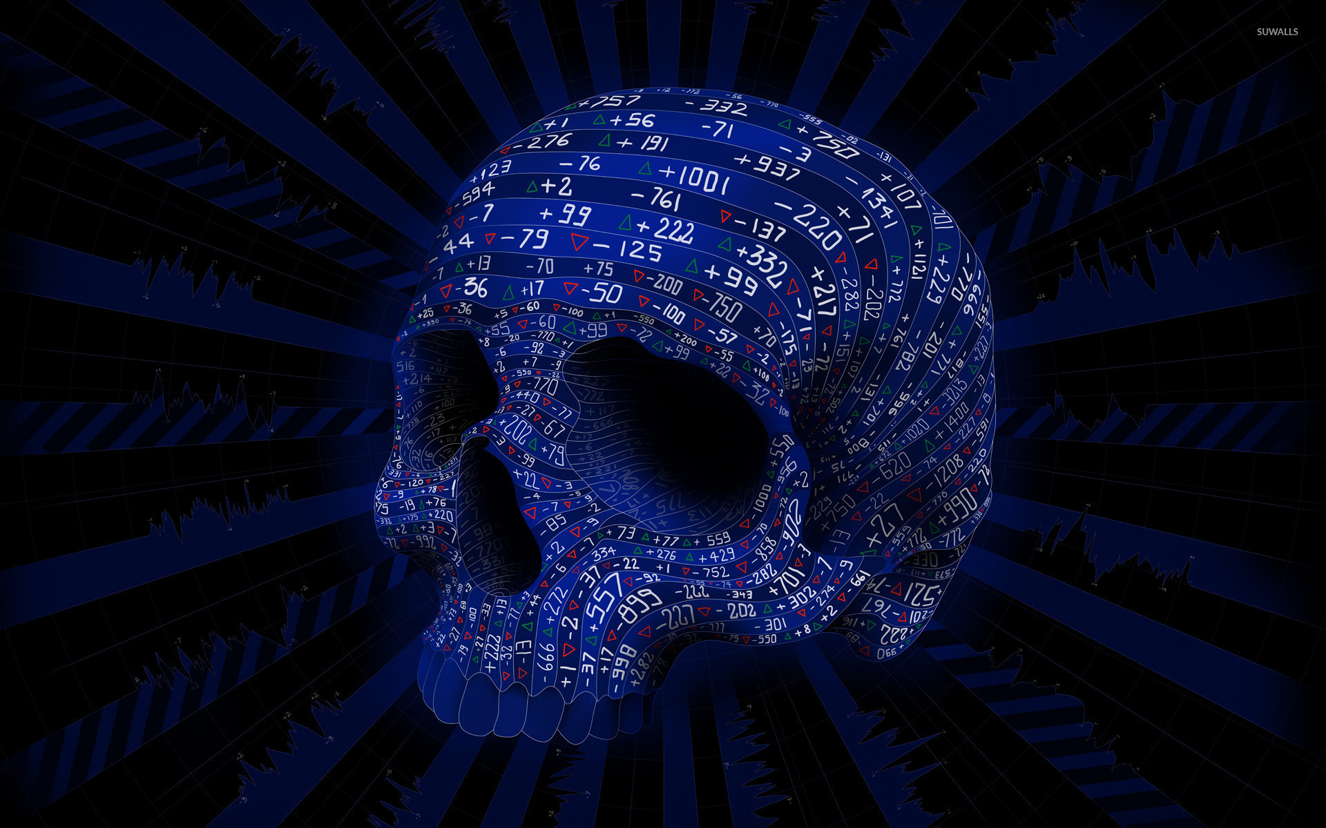 Stock Market Skull Wallpaper
